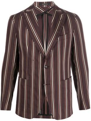 Tagliatore Striped Single-Breasted Blazer