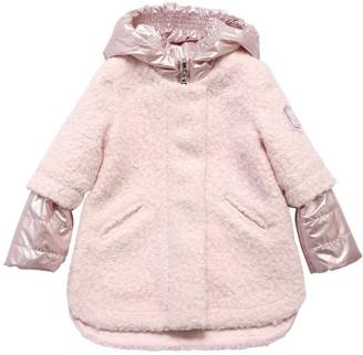 MonnaLisa Boucle & Nylon Puffer Coat