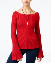 American Rag Off-The-Shoulder Bell-Sleeve Sweater, Only at Macy's