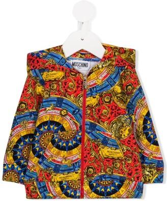 Moschino Kids baroque print hoodie