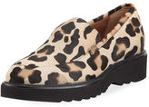 Aquatalia Kelsey Metallic Leopard Calf Hair Loafer