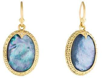 Armenta Diamond Old World Carved Oval Drop Earrings