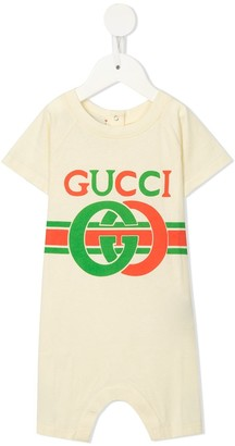 Gucci Kids Vintage Logo Print Shorties