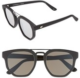 Le Specs Women's 'Thunderdome' 52Mm Sunglasses - Black Rubber/ Silver