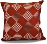 16 in. x 16 in. Check it Twice Holiday Pillow in Red
