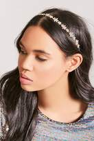 Forever 21 Faux Gem Floral Headband