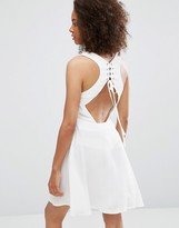 Glamorous Lace Up Back Dress