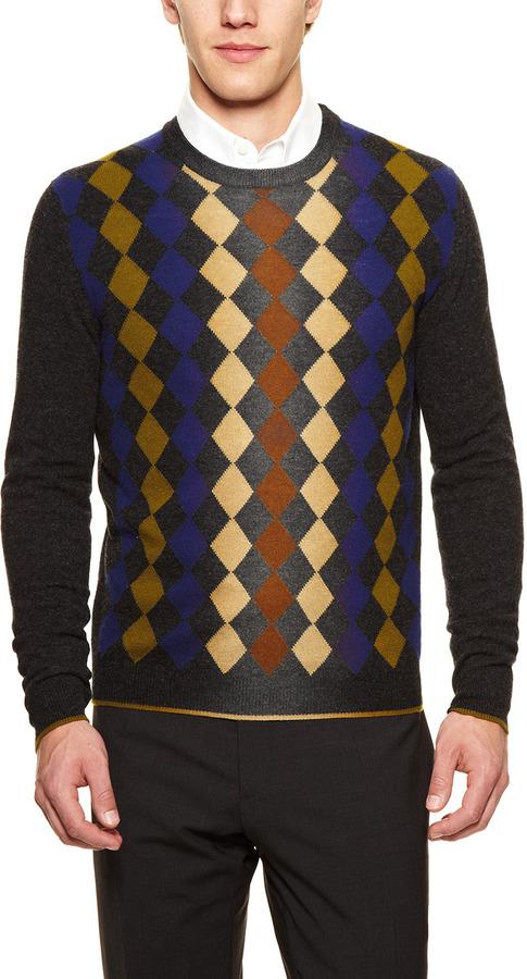 Prada Argyle Sweater
