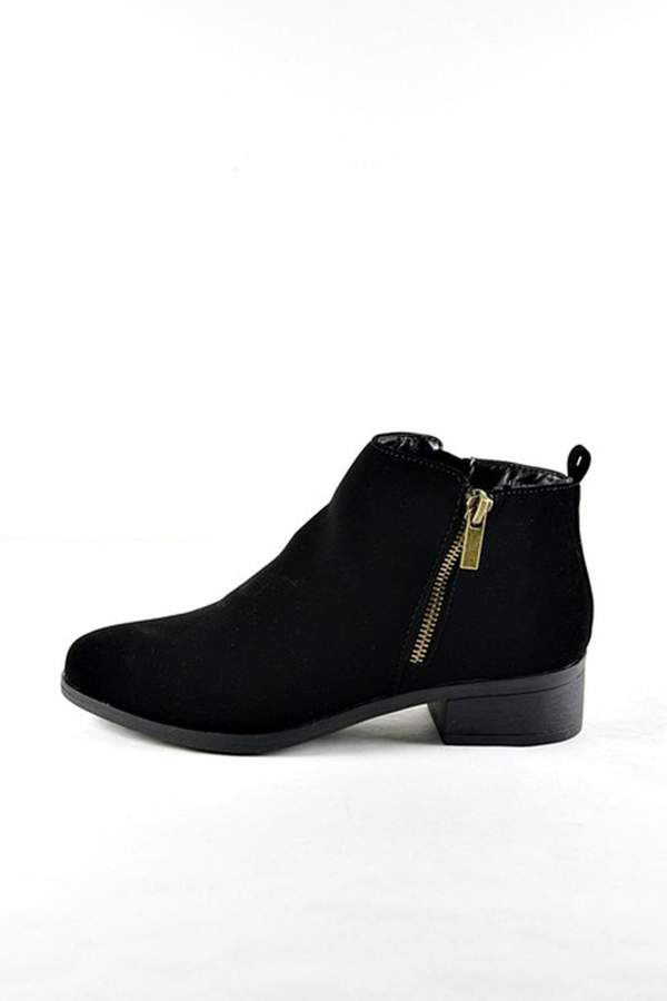 Bamboo Faux Suede Bootie