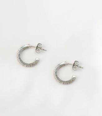 New Look Cubic Zirconia Mini Hoop Earrings