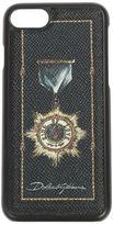 Dolce & Gabbana Heraldic Leather Iphone 7 Case