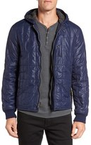 John Varvatos Men's Lightweight Hooded Quilted Jacket