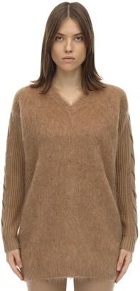 Max Mara Oversize Mixed Wool Knit Sweater