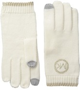 MICHAEL Michael Kors Logo Studded Gloves with Touch Technology