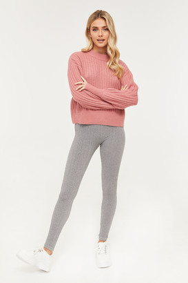 Ardene Lined Cable-Knit Leggings