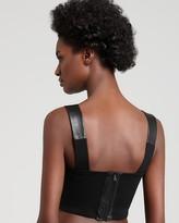 Aqua Sport - Leather + Ponte Crop Top
