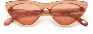 Chimi #006 Clear Sunglasses in Peach