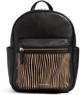 Vera Bradley Uptown Stripes Leighton Leather Backpack