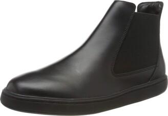 Clarks Street Edge Y Boys' Chelsea Boots Black (Black Leather Black Leather) 5 UK (38 EU)