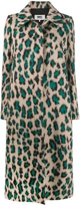 MM6 MAISON MARGIELA Leopard-Print Coat