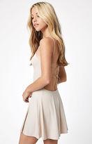 Lisakai Ribbed Cord Strap Mini Dress