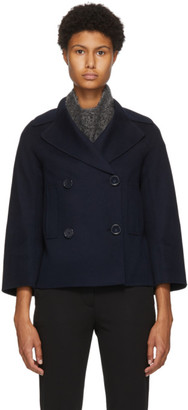 S Max Mara Navy Wool Connie Jacket