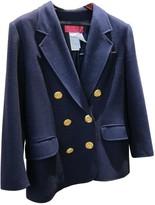 Christian Lacroix Blue Wool Jacket for Women Vintage
