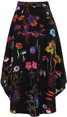 Stella McCartney Jacey floral-print silk midi skirt