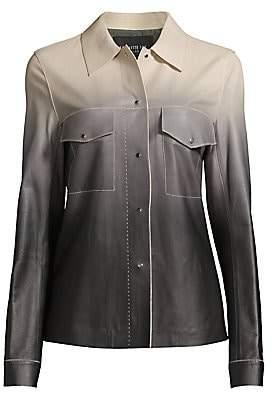 Lafayette 148 New York Women's John Ombré Leather Jacket