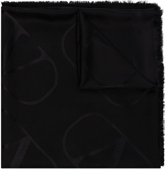Valentino Logo-Jacquard Scarf