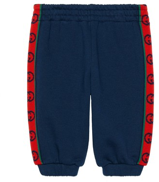 Gucci Baby cotton track bottoms with Interlocking G