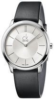 Calvin Klein Stainless Steel and Leather Watch, K3M211C6