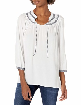 Nautica Women's Three-Quarter Sleeve Top Blouse