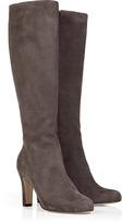 L'Autre Chose LAutre Chose Light Brown Suede Leather Boots with Side Zip
