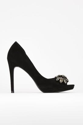 Wallis **Black Bow Platform Shoe