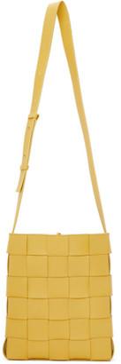 Bottega Veneta Yellow The Cassette Messenger Bag