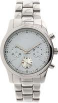 GENEVA Womens Teal Dial Silver-Tone Bracelet Watch