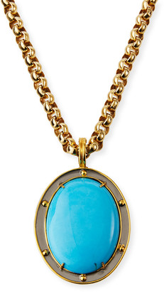 Dina Mackney Turquoise Howlite Pendant Necklace