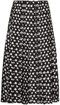 Victoria Beckham Fruit Print Pleated Skirt