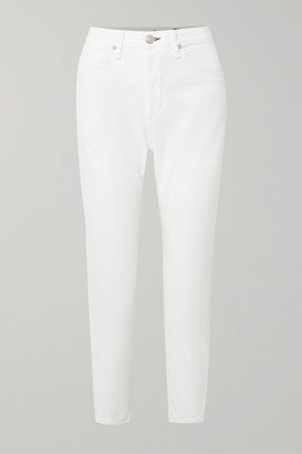 Rag & Bone Buckley Cropped Cotton-blend Twill Tapered Pants - White