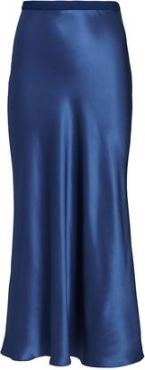 Divine Heritage Silk Midi Slip Skirt
