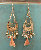 Besheek BeSheek Women's Earrings MULTI - Goldtone & Pink Tassel Chandelier Drop Earrings