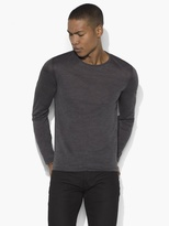 John Varvatos Long Sleeve Knit Crewneck