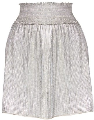 A.L.C. Isla Metallic Smocked Skirt