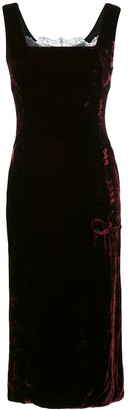 Christian Dior Pre-Owned Sleeveless Velvet Dress