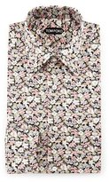 Tom Ford Hydrangea Prairie-Floral Slim-Fit Shirt, Pink