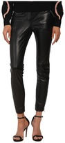 RED Valentino Leather Pants with Jersey Ponte Panels