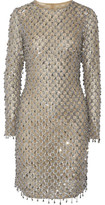 Michael Kors Embellished Tulle Mini Dress