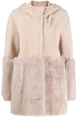 Drome Two-Tone Shearling Coat