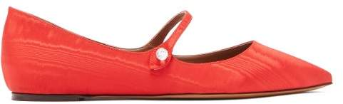 Tabitha Simmons Hermione Crystal Mary Jane Flats - Womens - Red